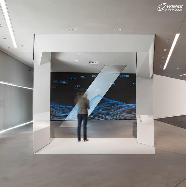 德意志银行品牌空间展厅 互动装置设计