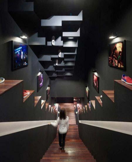 階梯線條彰顯個性!puma時尚店面設計