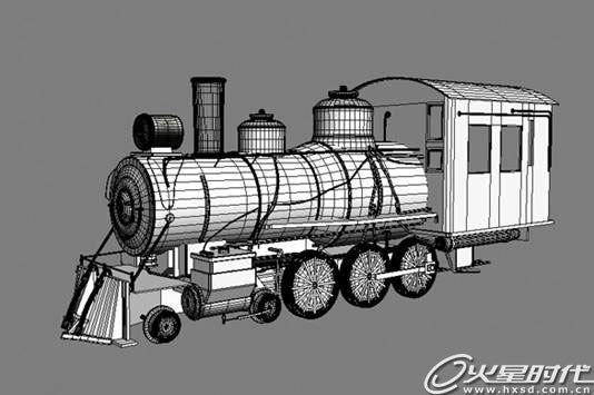 火车的模型和布线结构图.