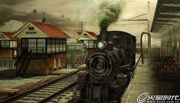 影视动画教程:3ds max打造《火车站场景》 | 经验频道
