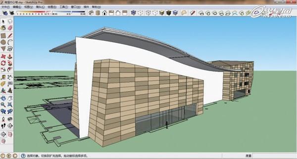 sketchup建筑设计实例(一)