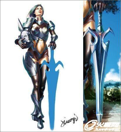 photoshop鼠绘:中世纪女重剑士