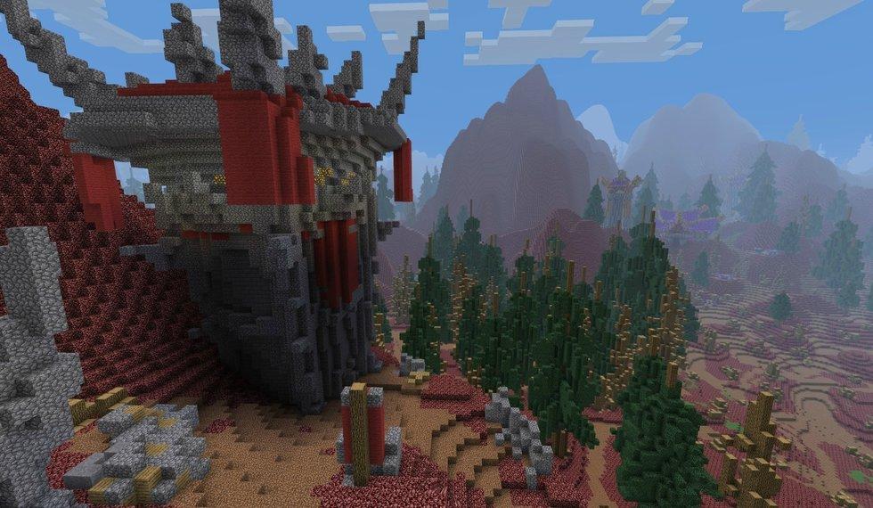 耗时8个月 《我的世界》打造精典魔兽地图