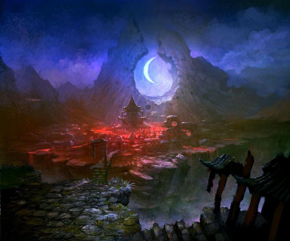 《剑灵》游戏场景原画欣赏
