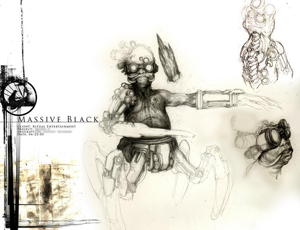无极黑(massive black)原画设定稿 112p