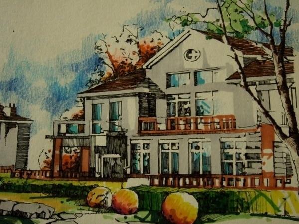 南艺设计_中国手绘建筑画大赛获奖作品