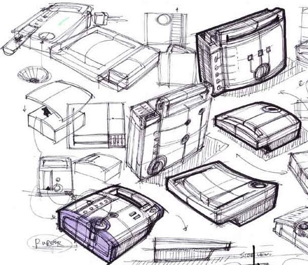 工业设计手绘线稿,用品