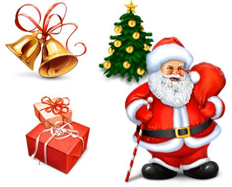 老人 圣诞礼物 圣诞树 铃铛 圣诞节装饰物 素材分类: 素材首页 - 图标