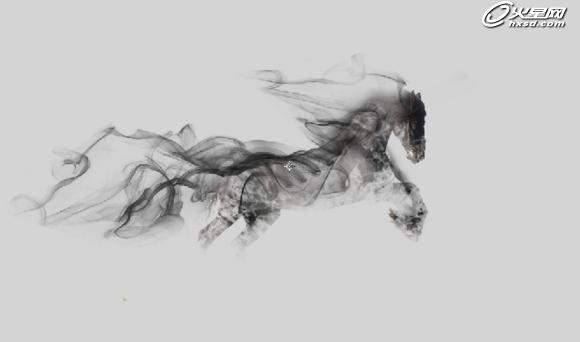 利用ps制作一匹简单的烟雾骏马