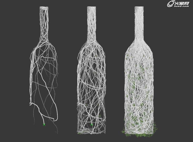 瓶子藤蔓手绘图片