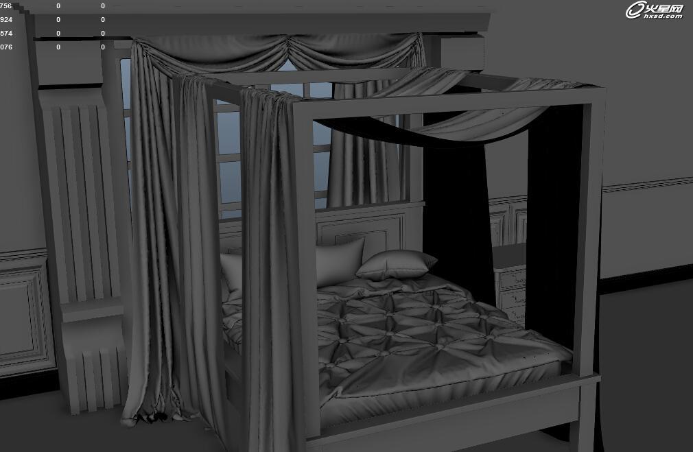 三维技术教程:让阳光透过纱帘:室内场景小案例